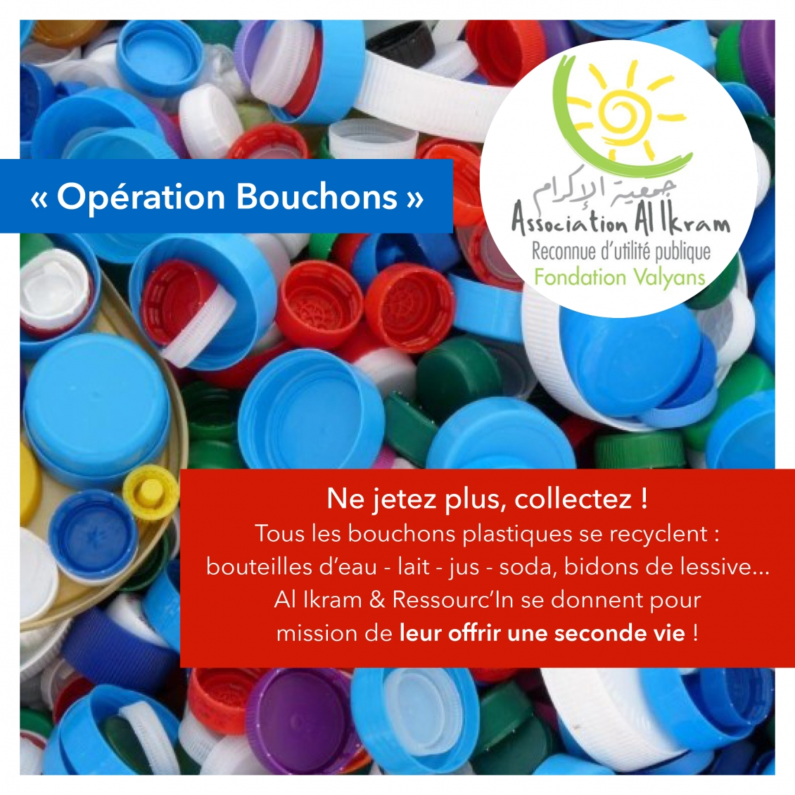 Ressourc'In collecte vos bouchons !